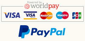 Worldpay and Paypal Accepred
